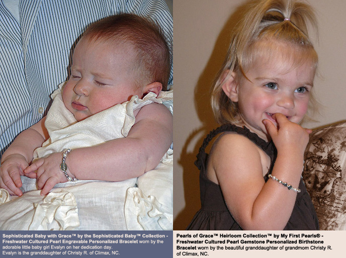 BeadifulBABY.com - Customer Testimonials - Sophisticated Baby with Grace™ by the Sophisticated Baby™ Collection - Freshwater Cultured Pearl Engravable Personalized Bracelet.