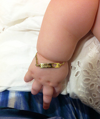 BeadifulBABY.com - Customer Testimonials - This customer purchased the Adorable Baby Heart - 14K Yellow Gold Personalized Girls Toddler, Kids ID Bracelet - Size 5.5-inch (Toddler - 7 years).