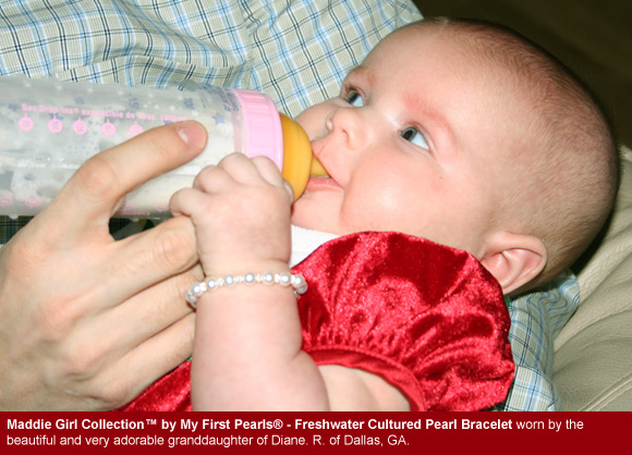 BeadifulBABY.com - Customer Testimonials - This customer purchased the Maddie Girl Collection™ by My First Pearls® - Freshwater Cultured Pearl Bracelet.