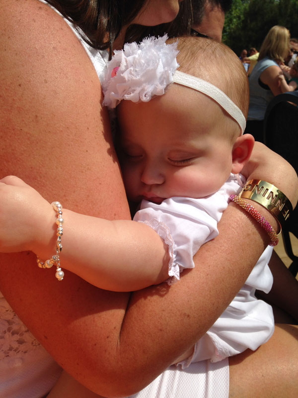 BeadifulBABY.com - Customer Testimonials - This customer purchased the Beautiful Girl™ by My First Pearls® – Grow-With-Me® designer original freshwater cultured pearl bracelet.
