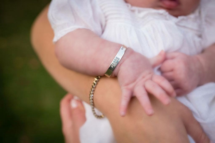BeadifulBABY.com - This customer purchased the Nina - Girls Christening Gift - Sterling Silver Engravable Girls Cuff Bracelet