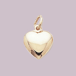 Heart Charm/Pendant in 14k Yellow or White Gold