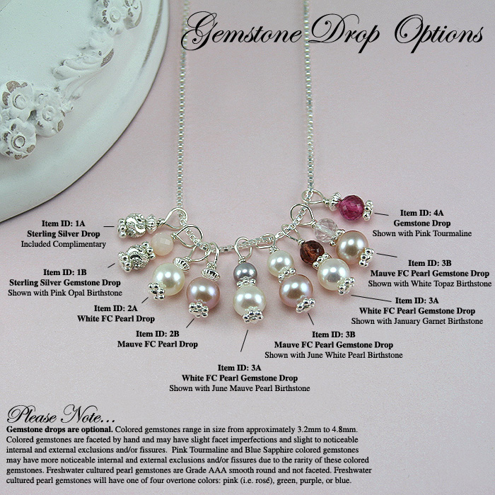 BeadifulBABY.com - Gemstone Drop Options