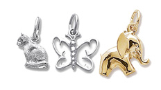 Animal and butterfly charms
