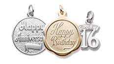 Birthday, anniversary and graduation charms