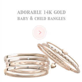 Adorable 14k gold baby & Child Bangles