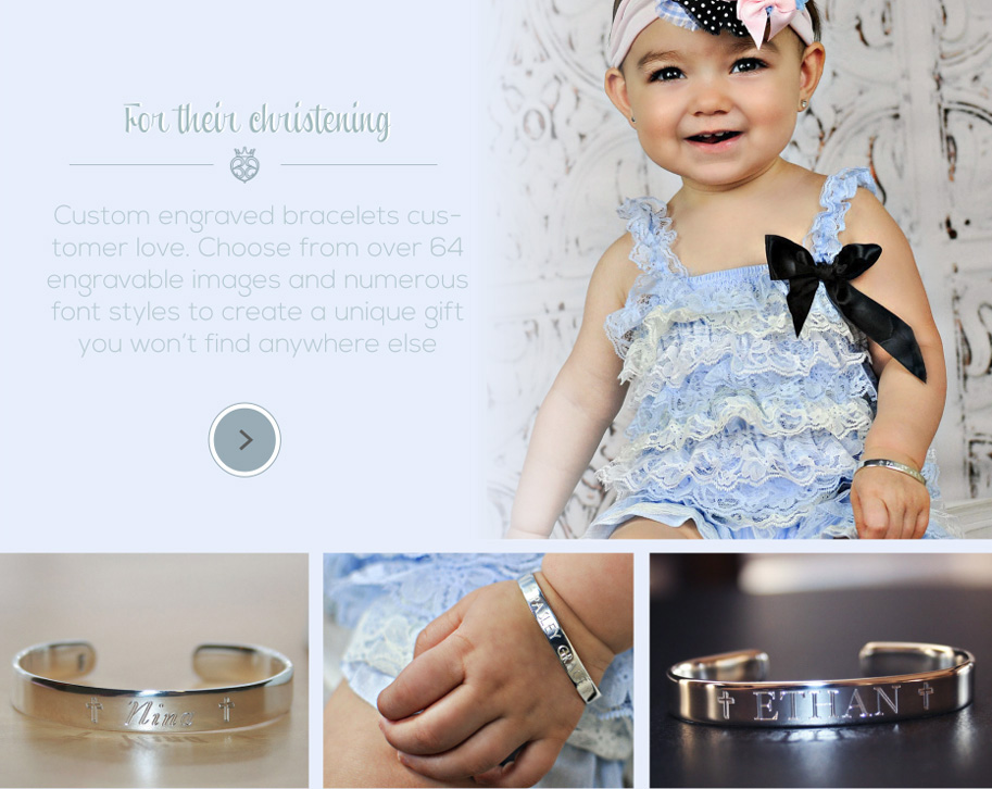 Personalized Christening Bracelets for Boys and Girls