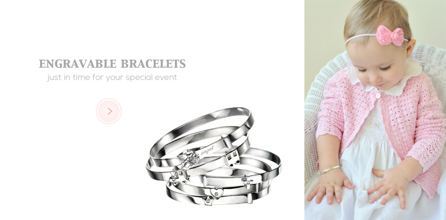 Engraved Bracelets for Kids & Baby