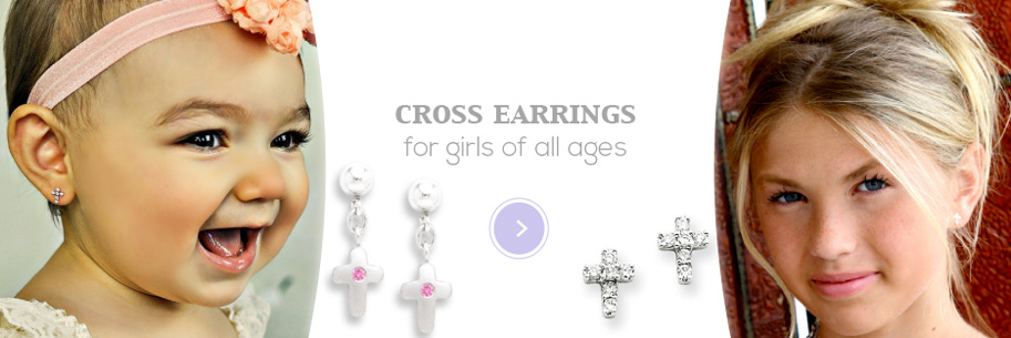 Cross Earrings for girls of all ages