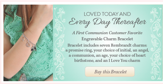 Loved Today First Communion Charm Bracelet buy BeadifulBABY