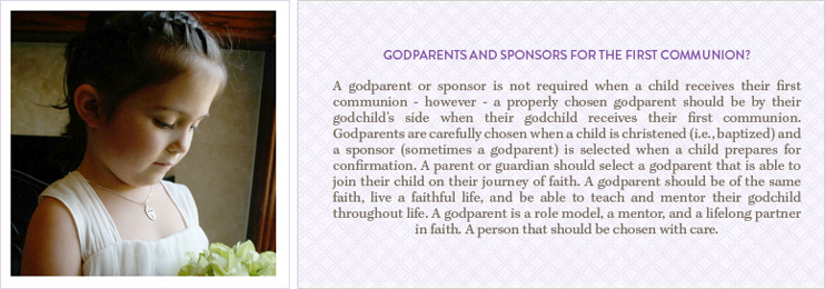 Godparents and Sponsors for First Communion