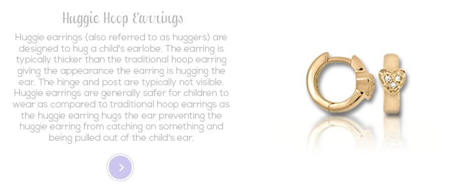 Huggie Hoop Earrings for girls of all ages