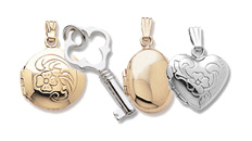 Locket and key charms