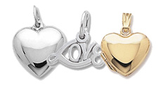 Love and Heart charms