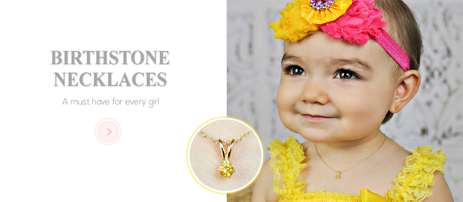 Birthstone Necklaces for Baby and Kids