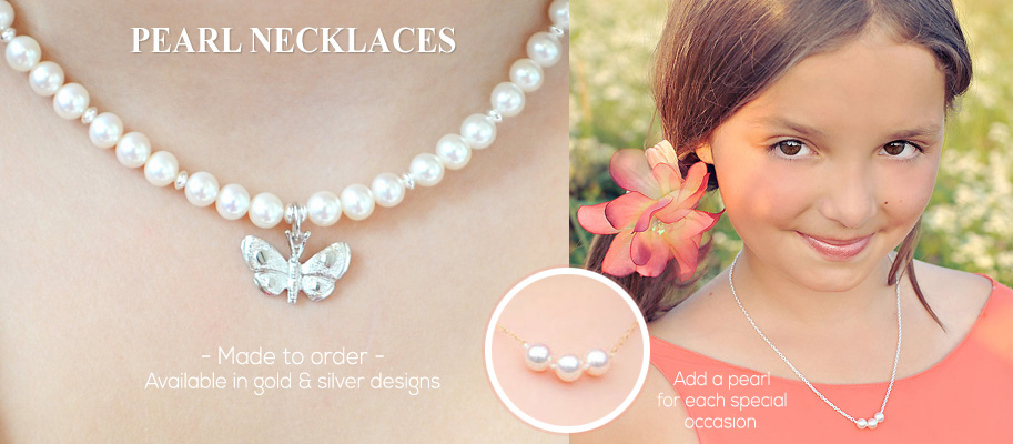 Pearl Necklaces for Kids and Baby