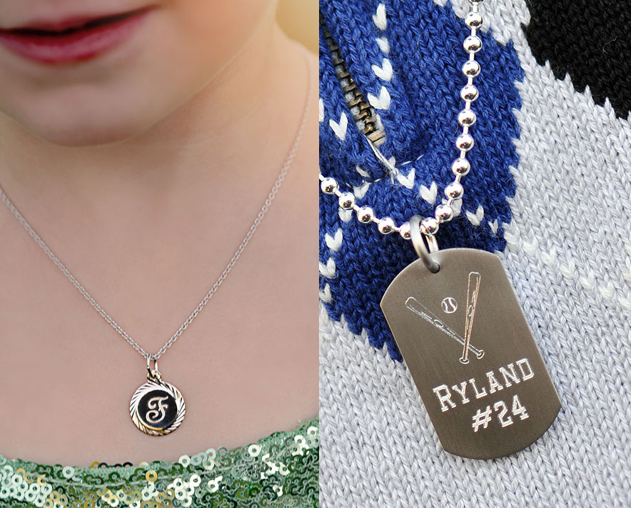 Shop personalized necklaces for girls.