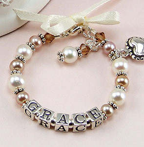 Baby Bracelets Christening Gifts Baptism Personalized Jewelry