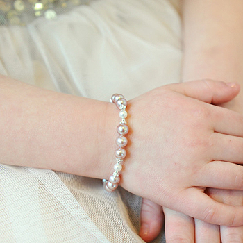 Lillian Grace™ by My First Pearls® – Grow-With-Me® designer original freshwater cultured pearl bracelet – Personalize with gemstones & charms