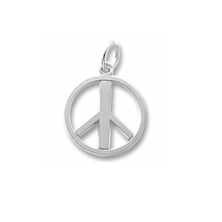 Rembrandt Sterling Silver Peace Sign Charm – Add to a bracelet or necklace/