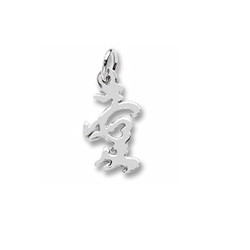 Rembrandt Sterling Silver Love Symbol Charm – Add to a bracelet or necklace/
