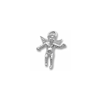 Rembrandt Sterling Silver Angel Charm – Add to a bracelet or necklace
