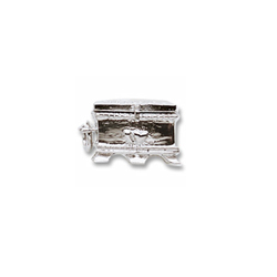 Rembrandt Sterling Silver Hope Chest Charm – Add to a bracelet or necklace/