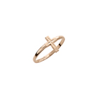 Children's Cross Ring - 10K Yellow Gold Toddler, Child Band for Girls and Boys - Size 3 1/2