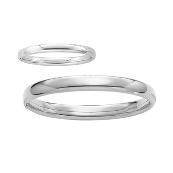 "Fine Mother Daughter Bracelet Sets - Sterling Silver Rhodium Mother and (Infant - Baby) Daughter Bangle Bracelet Set - Size 7.25"" and size 4.5"" - 2 item set - Save $10 with this set - BEST SELLER"