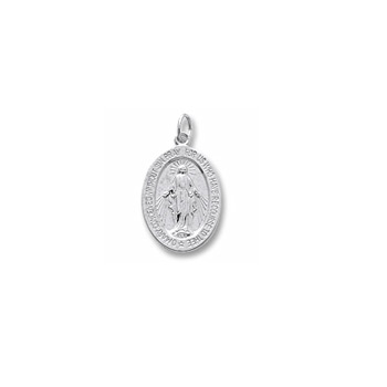 Rembrandt Sterling Silver Miraculous Medal Charm – Add to a bracelet or necklace