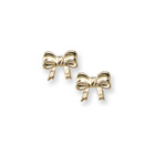 Gold Bow Earrings for Girls - 14K Yellow Gold Screw Back Earrings for Baby, Toddler, Child