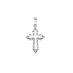 Elegant Cross Necklaces for Girls - Sterling Silver Rhodium Cross Pendant - Includes 18