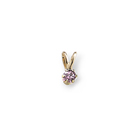 Little Girls Birthstone Necklaces - June Birthstone - 14K Yellow Gold Genuine Rhodolite Garnet Gemstone 3mm - Includes a 15