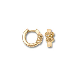 Genuine Diamond Huggies - 14K Yellow Gold Butterfly Huggie Hoop Earrings for Girls - (Baby - Teen) - BEST SELLER/