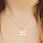 Daddy's Little Girl Necklace - Sterling Silver Rhodium - 15