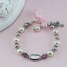 Sophisticated Baby with Grace™ by My First Pearls® – Grow-With-Me® designer original freshwater cultured pearl bracelet – Personalize with gemstones & charms