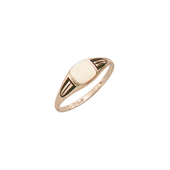 Handsome Boys - 10k Yellow Gold Boys Engravable Signet Ring - Size 5½ - BEST SELLER