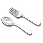 Best Baby Shower Gifts - Baby's First Spoon and Fork Set - Engravable Sterling Silver Baby Spoon and Fork Set by My First Gifts™ - 2 Item Set