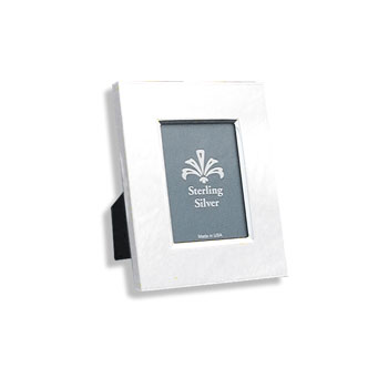 "For My Most Cherished Moments™ - Rectangular Beveled Sterling Silver Engravable Photo Frame - 4"" x 5"