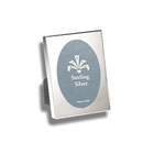 For My Most Cherished Moments™ - Engravable Sterling Silver Rectangular Picture Frame with Oval Window - 2 1/2