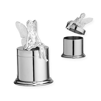 Look What the Tooth Fairy Left Me! - Heirloom-Quality Keepsake Engravable Sterling Silver Small Tooth Fairy Box by My First Gifts™
