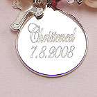A Christening Remembered - Rembrandt Sterling Silver Medium Round Charm (35 Series) – Engravable on front and back - Add to a bracelet or necklace