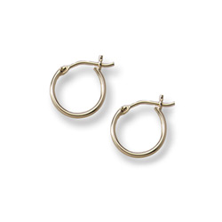 Gold Hoop Earrings for Girls - 14K Yellow Gold Hoop Earrings for Girls - Ages 6 and up/