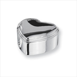Grace - Engravable Heart Silver-Plated Jewelry Box - BEST SELLER/