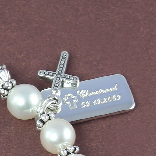 Treasured Memories Captured - Sterling Silver Small Rectangular Charm - Engravable on front and back - Add to a bracelet or necklace