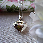 A Keepsake Heart Filled with Love Just for You - Sterling Silver Engravable Heart Photo Locket - Engravable on front and back - with exclusive Sterling Silver Rhodium Grow-With-Me® Chain