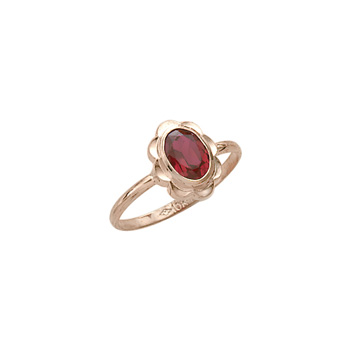 Girl's Birthstone Rings - 10K Yellow Gold Girls Synthetic Ruby Birthstone Ring - Size 5 1/2 - Perfect for Grade School Girls, Tweens, or Teens - BEST SELLER - LAST ONE
