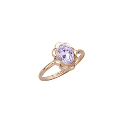 Girl's Birthstone Rings - 10K Yellow Gold Girls Synthetic Rhodolite Birthstone Ring - Size 5 1/2 - Perfect for Grade School Girls, Tweens, or Teens - BEST SELLER - LAST ONE/