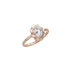 Girl's Birthstone Rings - 10K Yellow Gold Girls Synthetic White Topaz Birthstone Ring - Size 5 1/2 - Perfect for Grade School Girls, Tweens, or Teens - BEST SELLER - LAST ONE