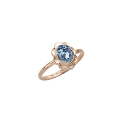 Girl's Birthstone Rings - 10K Yellow Gold Girls Synthetic Aquamarine Birthstone Ring - Size 5 1/2 - Perfect for Grade School Girls, Tweens, or Teens - BEST SELLER - ONLY TWO LEFT/